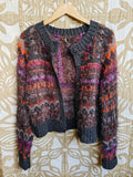 Grey/Purple Free People Cardigan, M