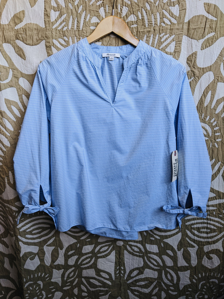 Blue Madewell Top, S