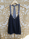 Blue Free People Top, L