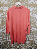 Eileen Fisher Salmon Linen Tunic, S