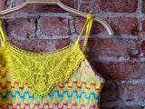 Yellow free people Knit Cami Top, XS