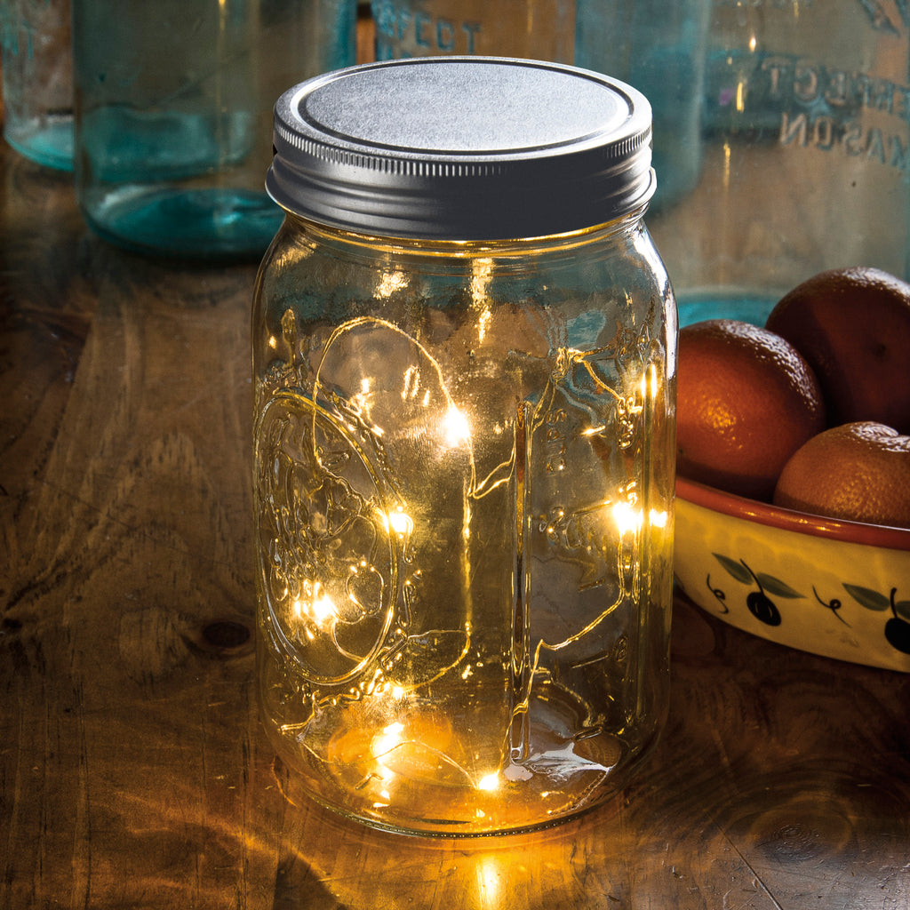 Lighted Mason Jar Lid