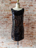 Black Sequin Banana Republic Dress, 2
