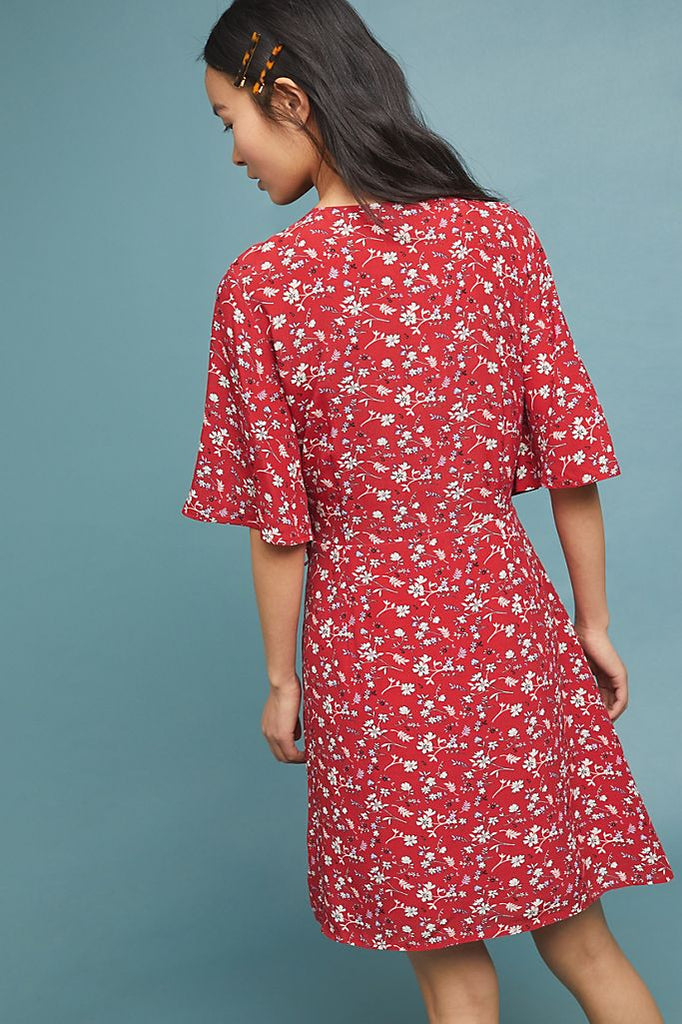 Sanctuary Floral Paradise Dress in Red, L