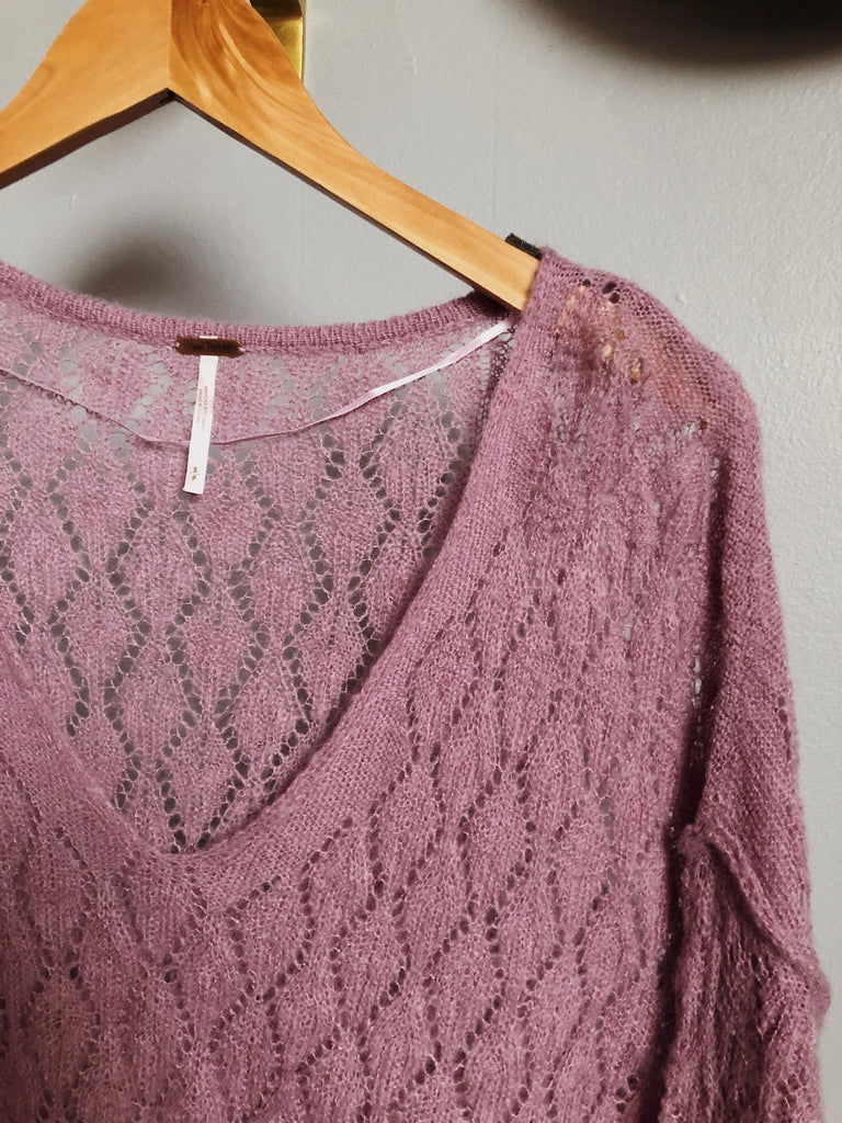 Free People Knit Tunic in Lilac, M