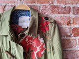 Olive Hei Hei Embroidered Jacket, S