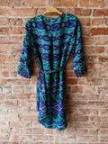 Navy/Turquoise Maeve Batik Dress, M