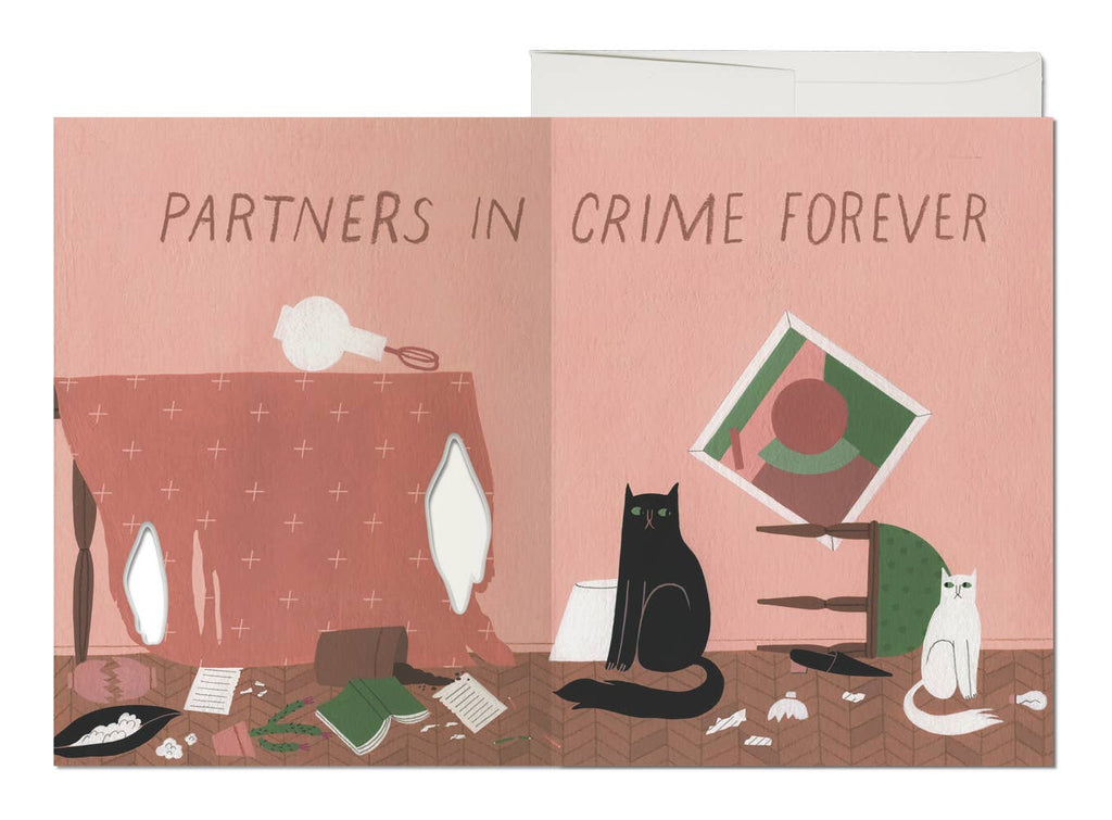 Cat Crimes Greeting Card