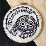 Past My Bedtime Embroidery Kit
