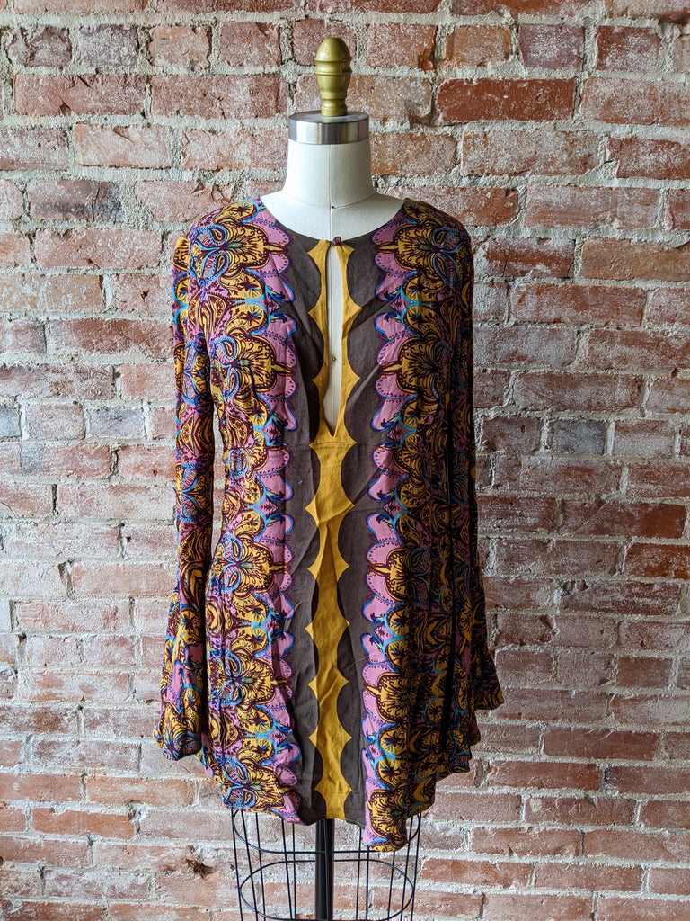 Gold/Purple free people 1960s Tunic, 4