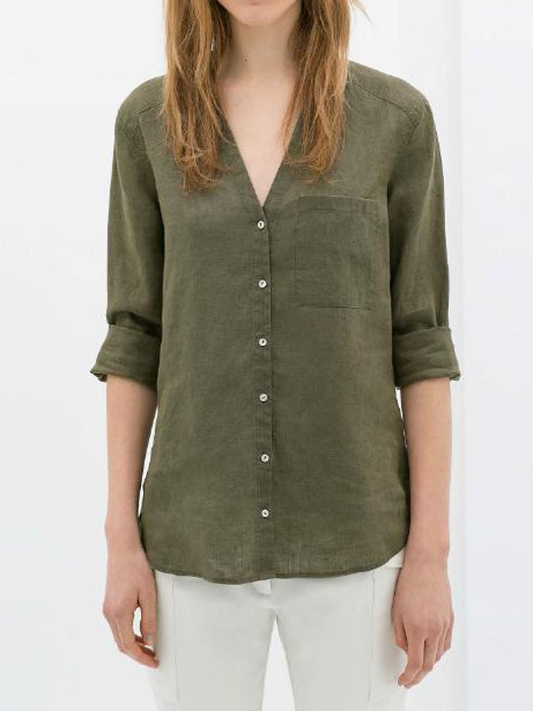 Zara Shirt in Green, M