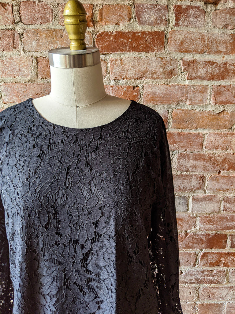 Black Madewell Lace Shift Dress, 6