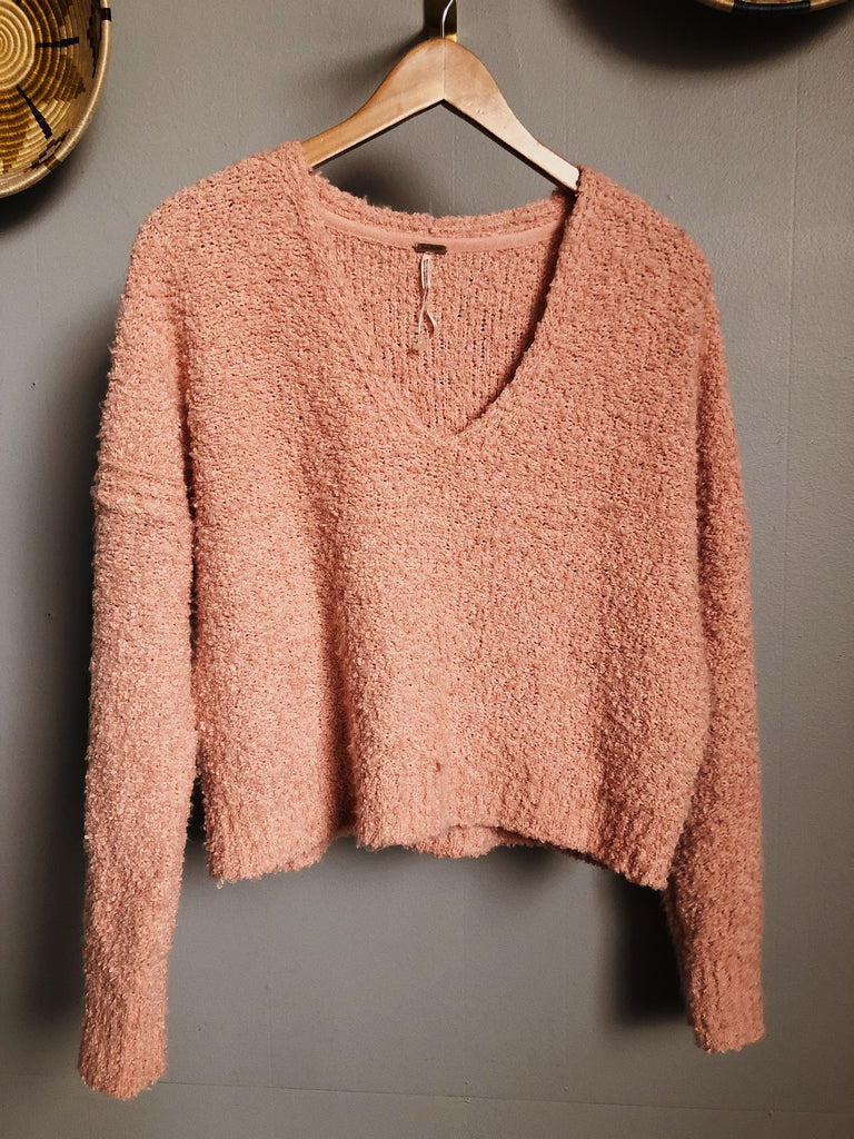 free people Sweater in Peach, M