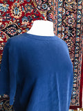 Anna and Frank Silk Top in Blue, M