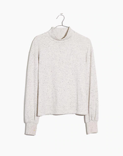 Donegal Mockneck Bubble-Sleeve Sweatshirt by mile(s)/Madewell, S