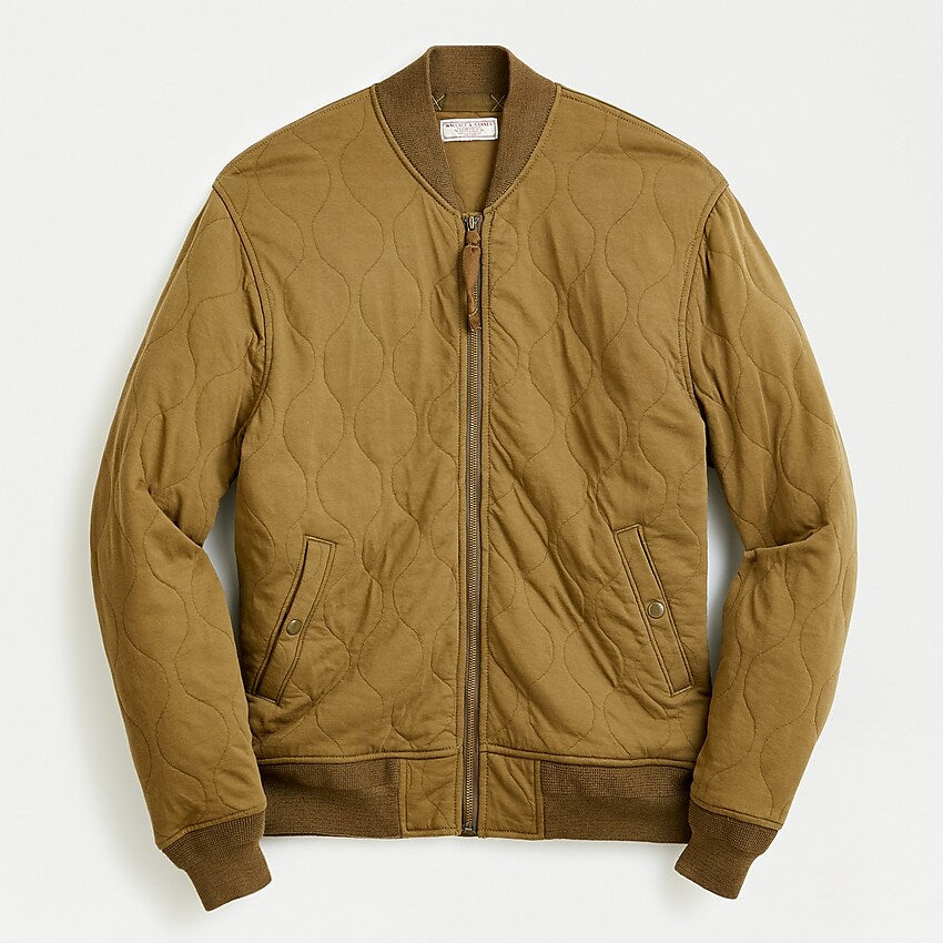 Wallace & Barnes Quilted Knit Bomber Jacket, M