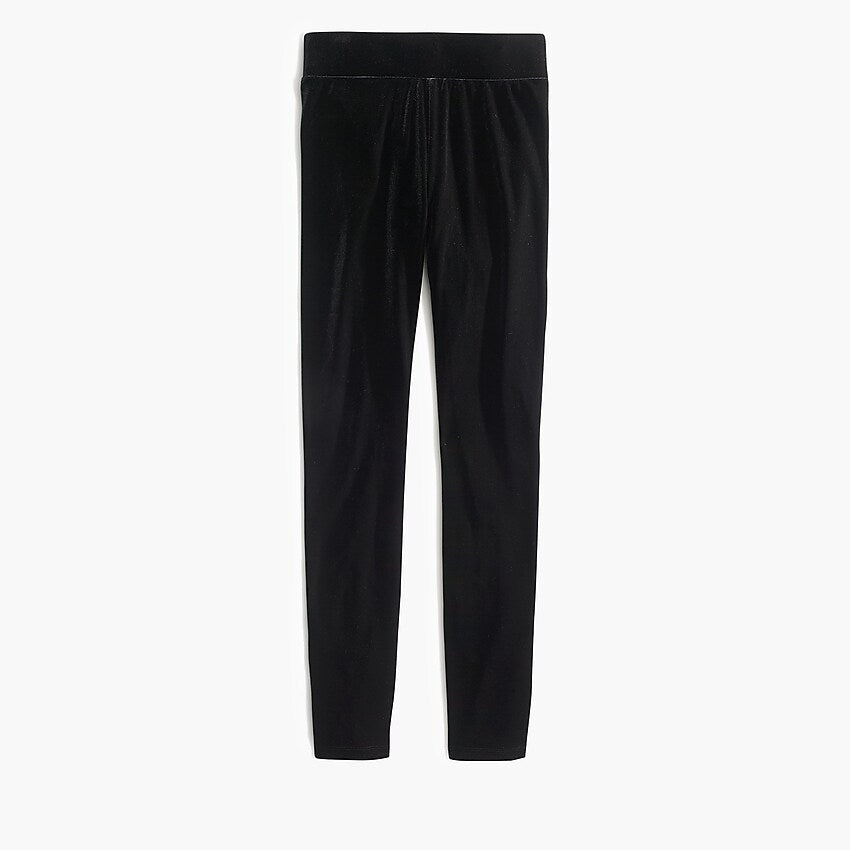 J Crew Stretch Velvet Leggings, L