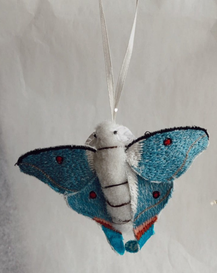 Stitched Moth Ornament
