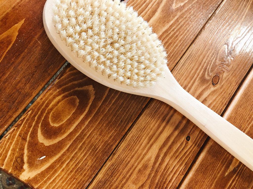 Wood Bath Brush, M