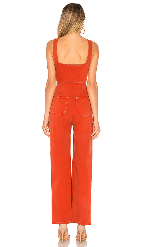 Capulet Jumpsuit in Vintage Red, M