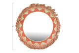 Embroidered Cotton Fringe Framed Mirror