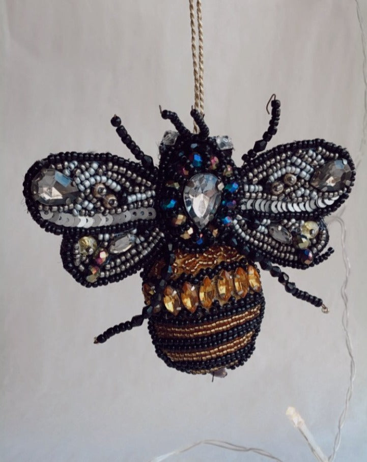 Beaded Bumble Bee Ornament