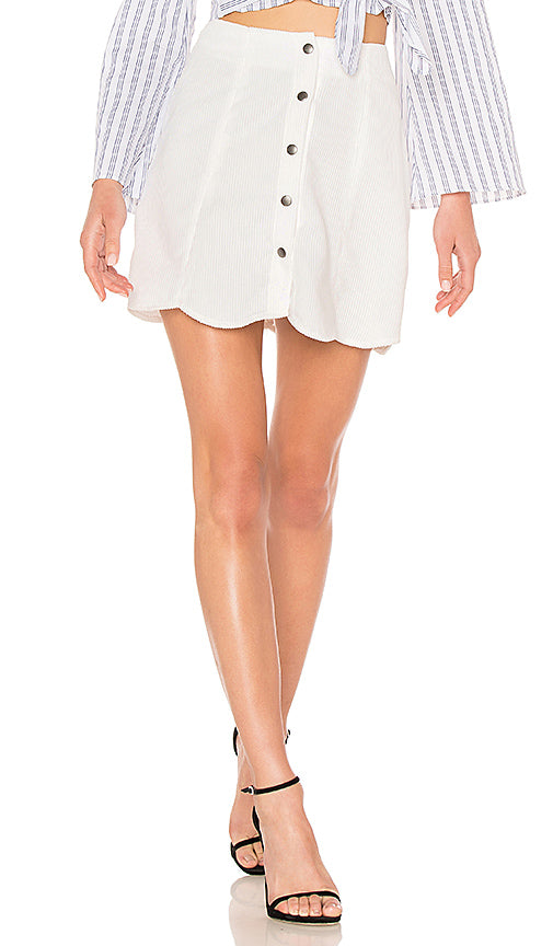 The Fifth Label Skirt in White, XS