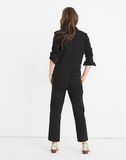 Madewell Black Coverall Jumpsuit, XS