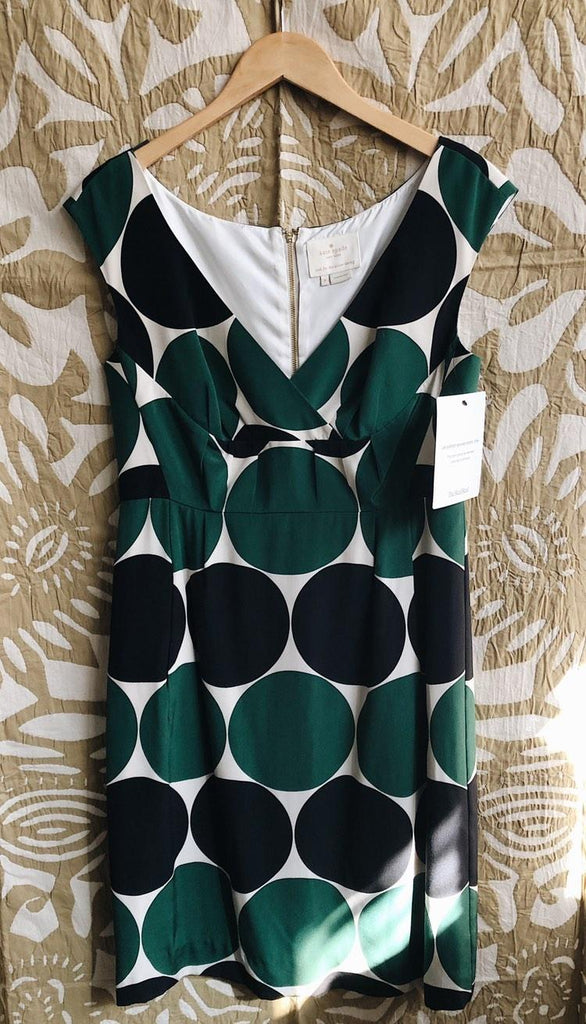 Green/Cream kate spade Dress, 6