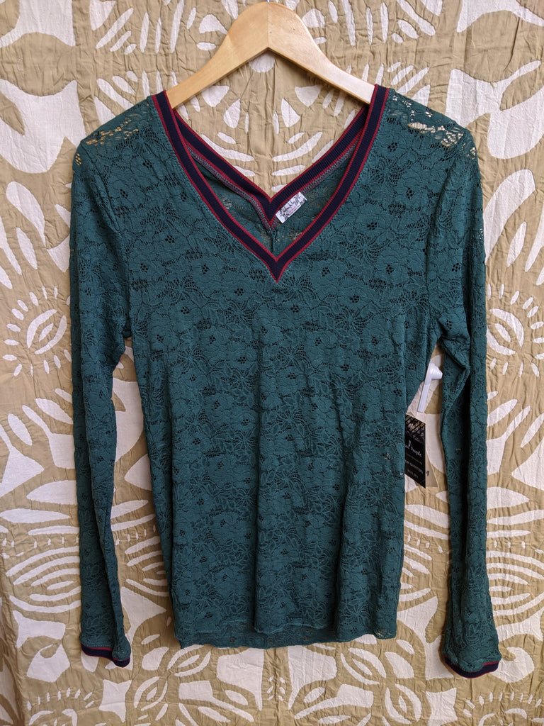 Green free people Shirt, L