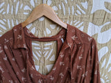 Brown free people Shirt, L