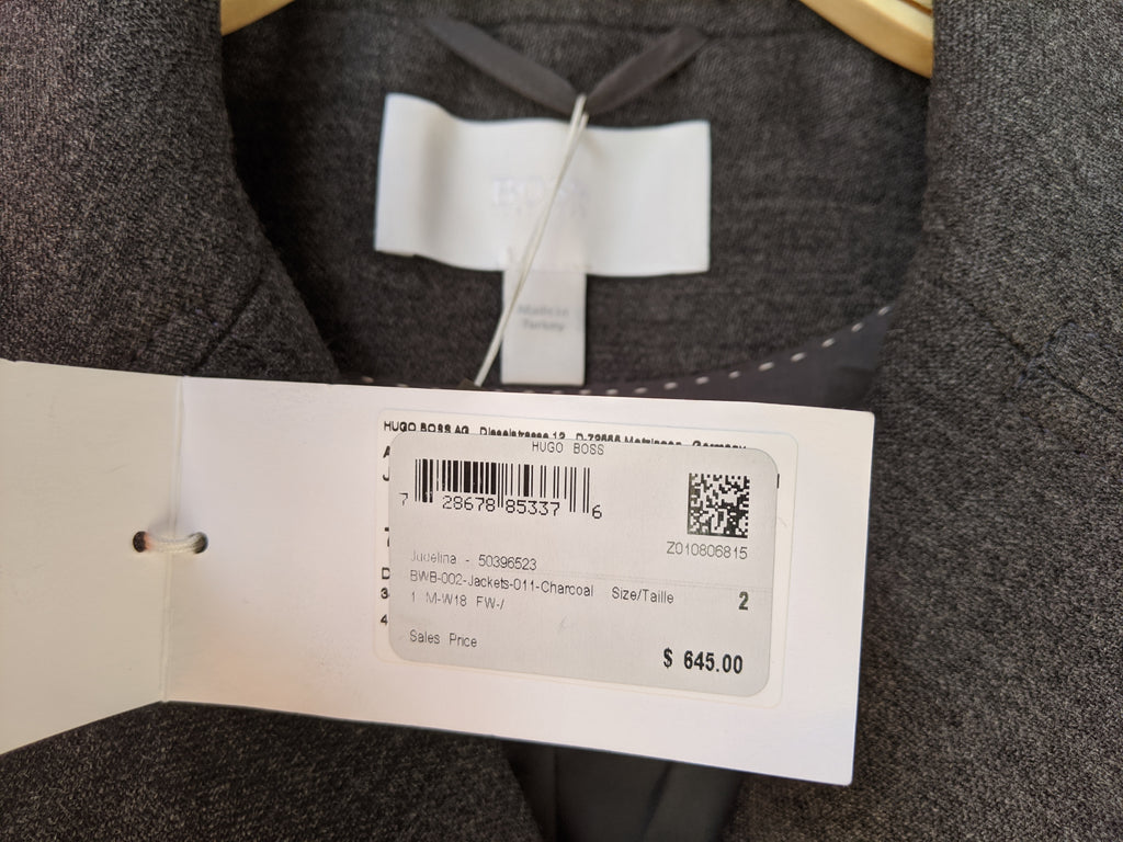 Grey BOSS Hugo Boss Jacket, 2/XS