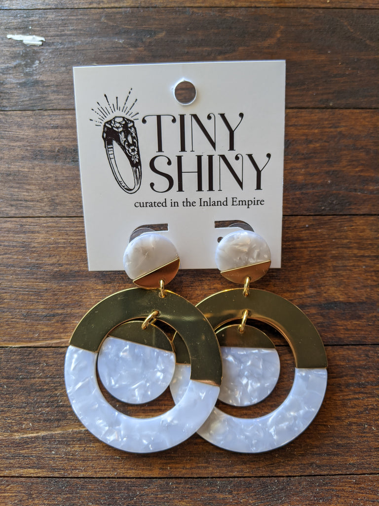J Crew Acrylic and Gold Earrings
