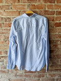 J Crew Long Sleeve Blue and White Striped Shirt, S