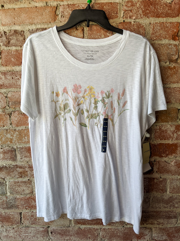 Lucky Brand Faded Floral Tee, XL