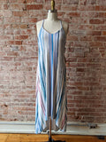 Nicole Miller Watercolor Maxi Dress, M