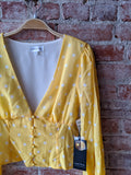 Privacy Please Yellow Dot Top, XS