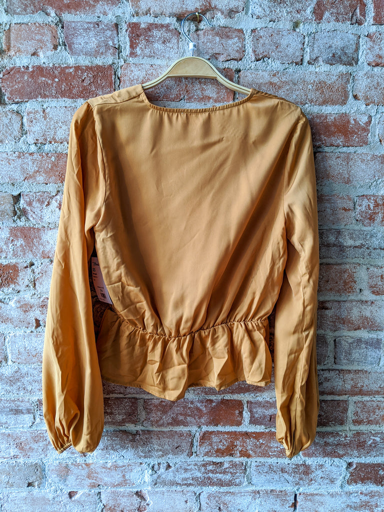 About Us Charmeuse Top in Marigold, XS