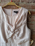 J Crew Linen Twist-Front Dress in Blush, 12