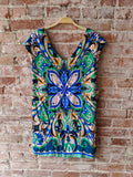maeve Green/Blue Shift Dress, S