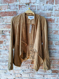 BB Dakota Suede Wrap Jacket in Whiskey, M