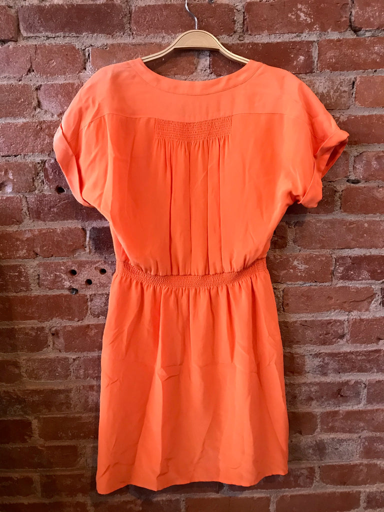 Tangerine Broadway & Broome Silk Dress, 2