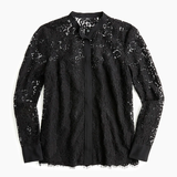 J Crew Button-up Lace Top, 6