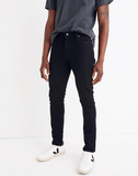 MEN'S Madewell Skinny Authentic Flex Jeans in Black, 28x30