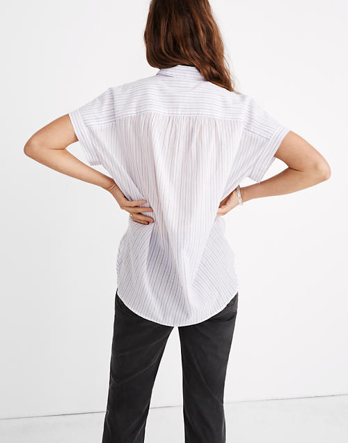 Madewell Central Shirt in Lavender Stripe, XXS
