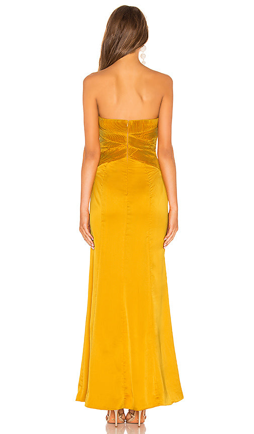 Lovers + Friends Eloa Gown in Goldenrod, S