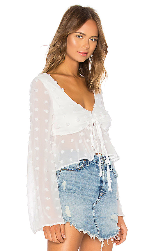 Lovers + Friends Lily Top in Off White, XS