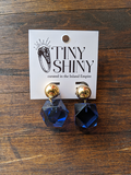 Blue Lucite J Crew Earrings
