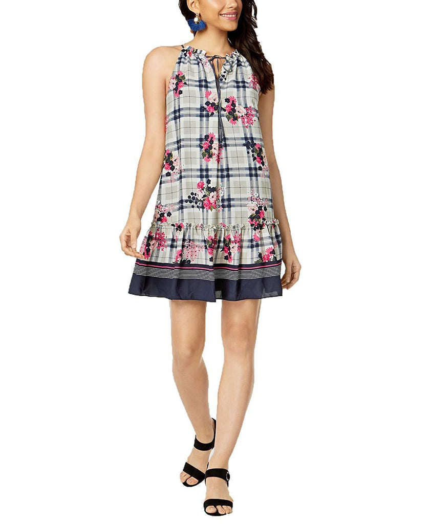 maison jules Dress Navy Plaid, M