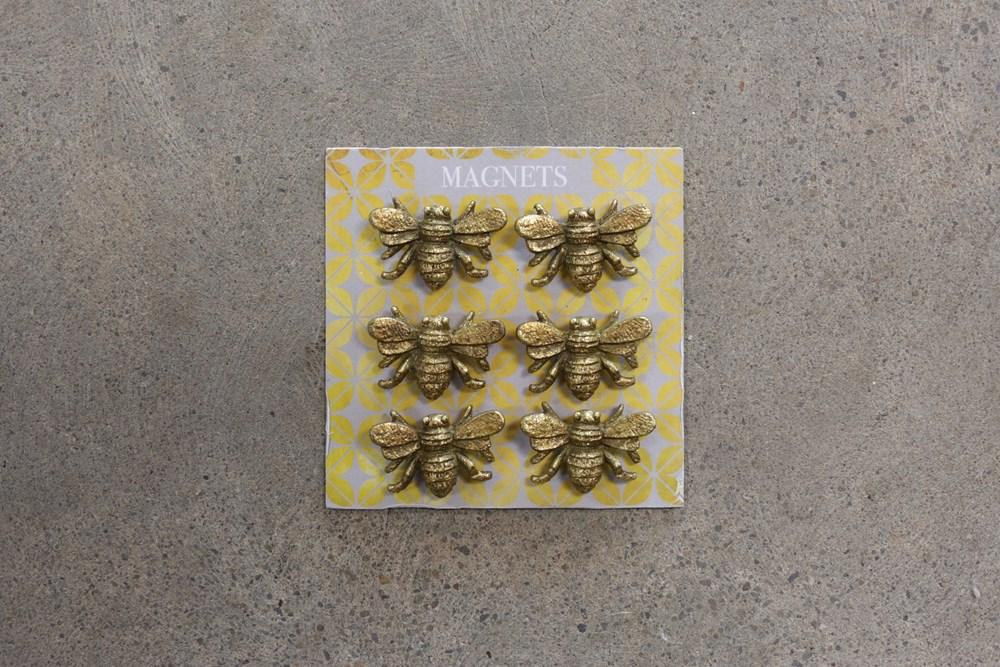 Pewter Bee Magnets, Set of 6